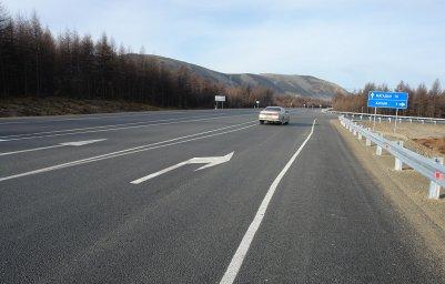 2014 год. Участок дороги после реконструкции