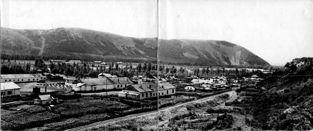 1956 год, правая часть панорамы посёлка