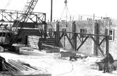 1975 год. Строительство базы ДСУ в Новой Палатке